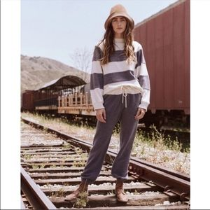 The Great. Sherpa Top Oversized Striped